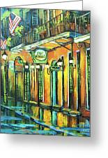Pat O Briens Greeting Card by Dianne Parks