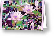 Patchwork Quilt Greeting Card by Karen Lewis