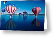 Patriotic Hot Air Balloon Greeting Card by Jerry McElroy
