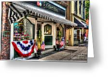 Patriotic Street Greeting Card by Debbi Granruth