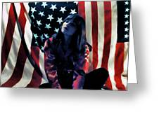 Patriotic Thoughts Greeting Card by David Patterson