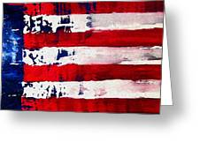 Patriot's Theme Greeting Card by Charles Jos Biviano