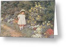 Pause for Reflection Greeting Card by Helen Allingham