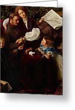 Peace Concluded Greeting Card by Sir John Everett Millais