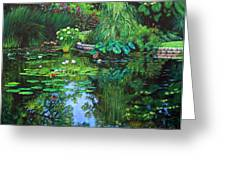 Peace Floods My Soul Greeting Card by John Lautermilch