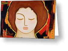 Peace Messenger Greeting Card by Gloria Rothrock