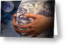 Peace On Earth Gaia Greeting Card by Tom Romeo