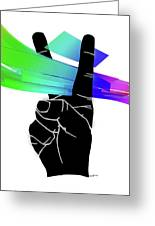 Peace Ribbons Greeting Card by Anthony Caruso