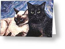 Peaceful Coexistence Greeting Card by Linda Mears