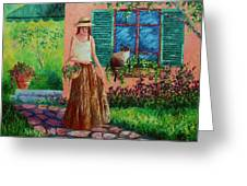 Peaceful Thoughts Greeting Card by David G Paul