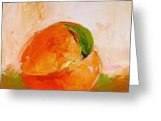 Peach Greeting Card by Cathy McIntire