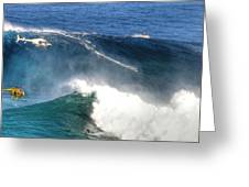 Peahi Maui Greeting Card by Dustin K Ryan