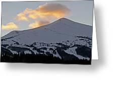 Peak 8 at dusk - Breckenridge Colorado Greeting Card by Brendan Reals