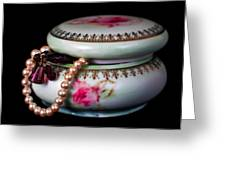 Pearls And Beads Greeting Card by June Marie Sobrito