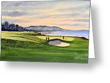 Pebble Beach Golf Course Greeting Card by Bill Holkham