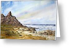 Pebble Beach Greeting Card by Travis Kelley