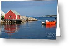 Peggys Cove Greeting Card by Thomas Marchessault