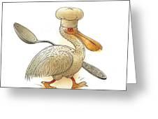 Pelican Greeting Card by Kestutis Kasparavicius