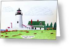 Pemaquid Point Lighthouse Greeting Card by Frederic Kohli