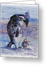 Penguin Love Greeting Card by Nadine Rippelmeyer