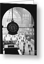 Penn Station Clock Greeting Card by Van D Bucher and Photo Researchers