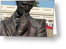 Pensive Lincoln Greeting Card by David Bearden