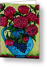 Peony Party Greeting Card by Lisa  Lorenz
