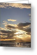 People Silhouette Sunset Greeting Card by Brandon Tabiolo - Printscapes