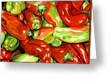 Peppers Greeting Card by Nadi Spencer
