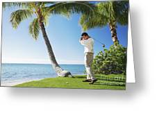 Perfect Swing Greeting Card by Brandon Tabiolo - Printscapes