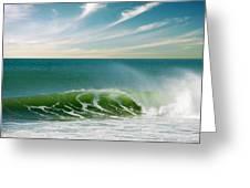 Perfect Wave Greeting Card by Carlos Caetano