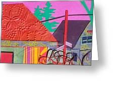Perham Street Greeting Card by Debra Robinson