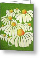 Perky Daisies Greeting Card by Oiyee  At Oystudio
