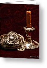 Pewter And Pearls Greeting Card by Christopher Holmes