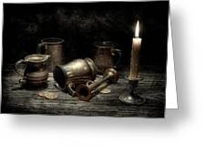 Pewter Still Life I Greeting Card by Tom Mc Nemar