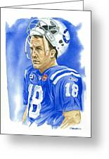 Peyton Manning - Heart Of The Champion Greeting Card by George  Brooks