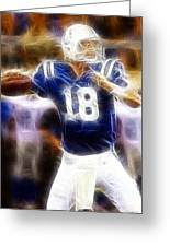 Peyton Manning Greeting Card by Paul Ward