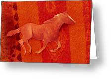 Phantom Horse II  Greeting Card by Anne-Elizabeth Whiteway