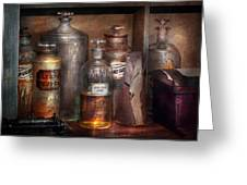 Pharmacy - That's The Spirit Greeting Card by Mike Savad