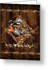 Pheasant Lodge Greeting Card by JQ Licensing