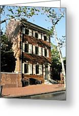 Phiily Row House 1 Greeting Card by Paul Barlo