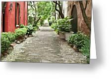 Philadelphia Alley Charleston Pathway Greeting Card by Dustin K Ryan