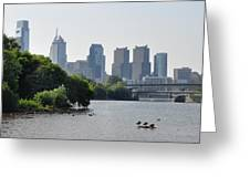 Philadelphia Along The Schuylkill River Greeting Card by Bill Cannon