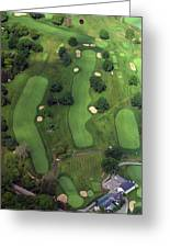 Philadelphia Cricket Club Wissahickon Golf Course 1st Hole Greeting Card by Duncan Pearson