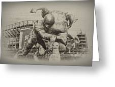Philadelphia Eagles at the Linc Greeting Card by Bill Cannon