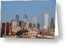 Philadelphia Standing Tall Greeting Card by Simon Wolter