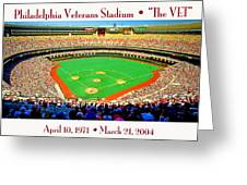 Philadelphia Veterans Stadium The Vet Greeting Card by A Gurmankin