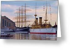 Philadelphia Waterfront Olympia Greeting Card by Debbi Granruth