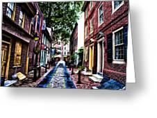 Philadelphia's Elfreth's Alley Greeting Card by Bill Cannon