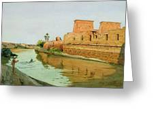 Philae On The Nile Greeting Card by Alexander West